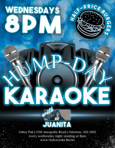 Hump Day Karaoke with Juanita at Odie's Pub in Odenton Maryland